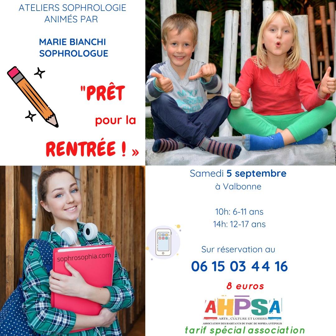 Ateliers Sophrologie Ados Enfants Rentrée 2020 VALBONNE ANTIBES